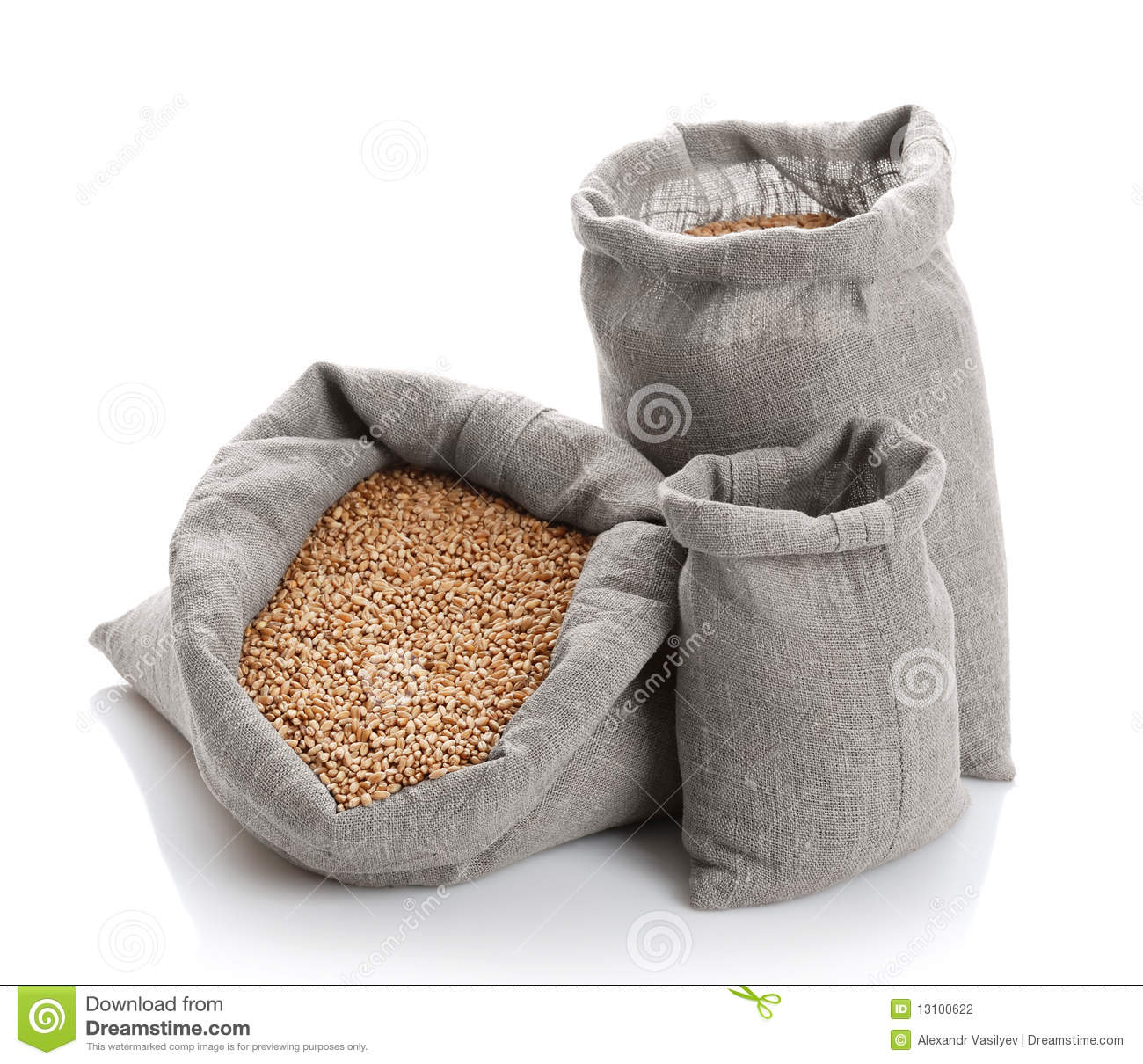 More Similar Stock Images Of   Grain Of The Wheat In Bags