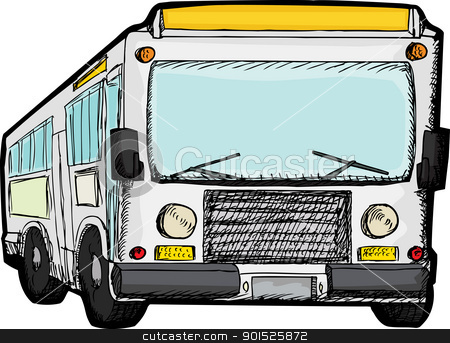 Public Transit Bus Stock Vector Clipart Generic Public Transportation