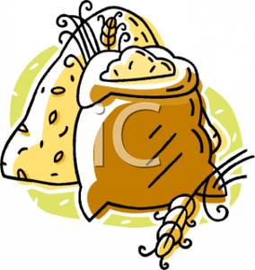 Sack Of Wheat Grain   Royalty Free Clipart Picture