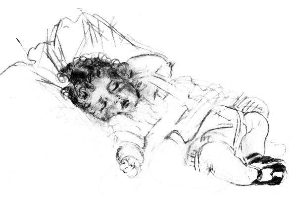 Sleeping Baby Angel Clipart - Clipart Kid