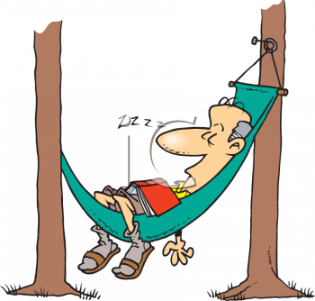 2616 2950 Grandpa Sleeping In His Hammock Clip Art Clipart Image Png
