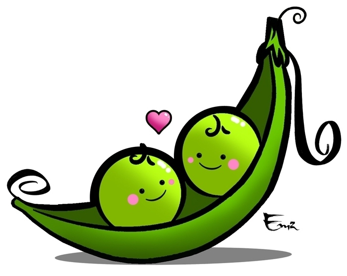 how to draw peas in a pod cartoon