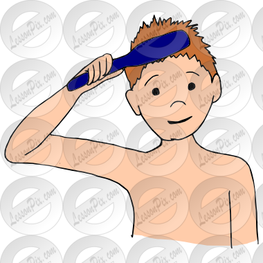 boy brushing hair clipart clipart suggest