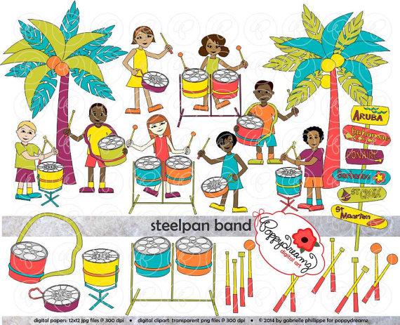 Caribbean Steel Pan Palm Trees Caribbean Islands Music Teacher