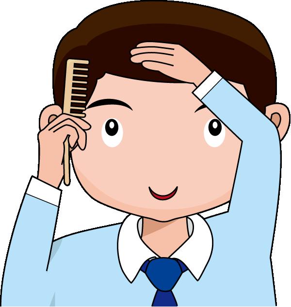 Combing Hair Clipart Boy brushing hair clipart - clipart kid