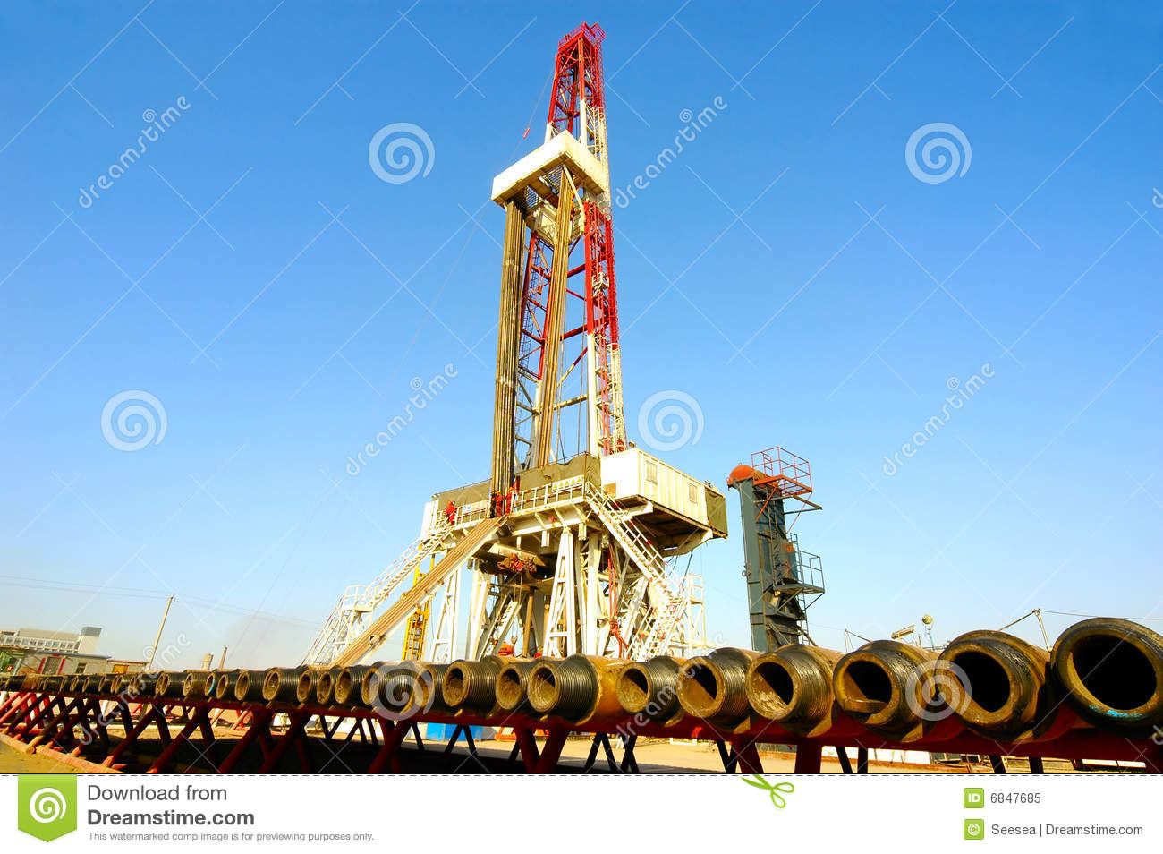 Land Drilling Rig Royalty Free Stock Photo   Image  6847685