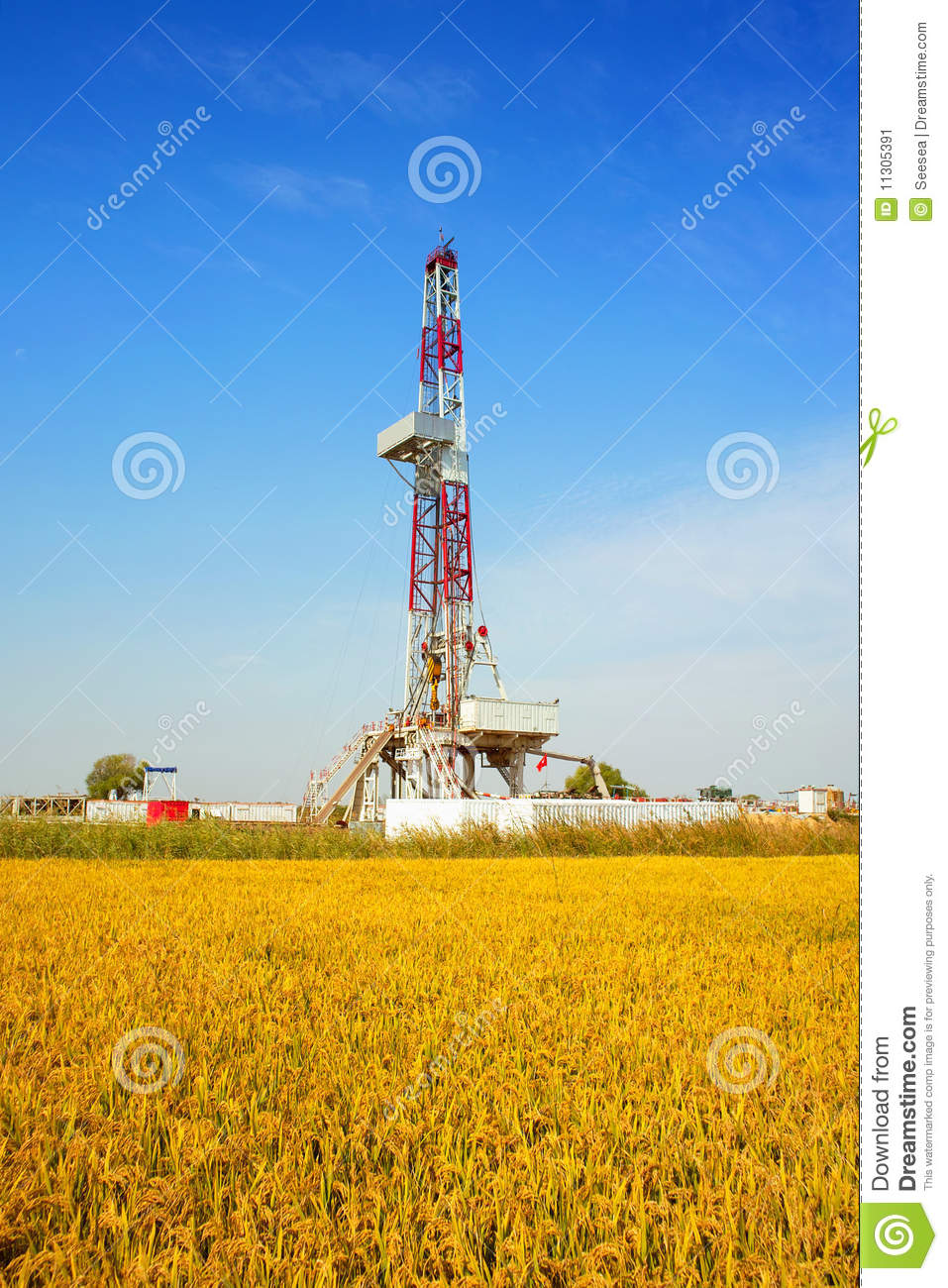 Land Drilling Rig Stock Image   Image  11305391