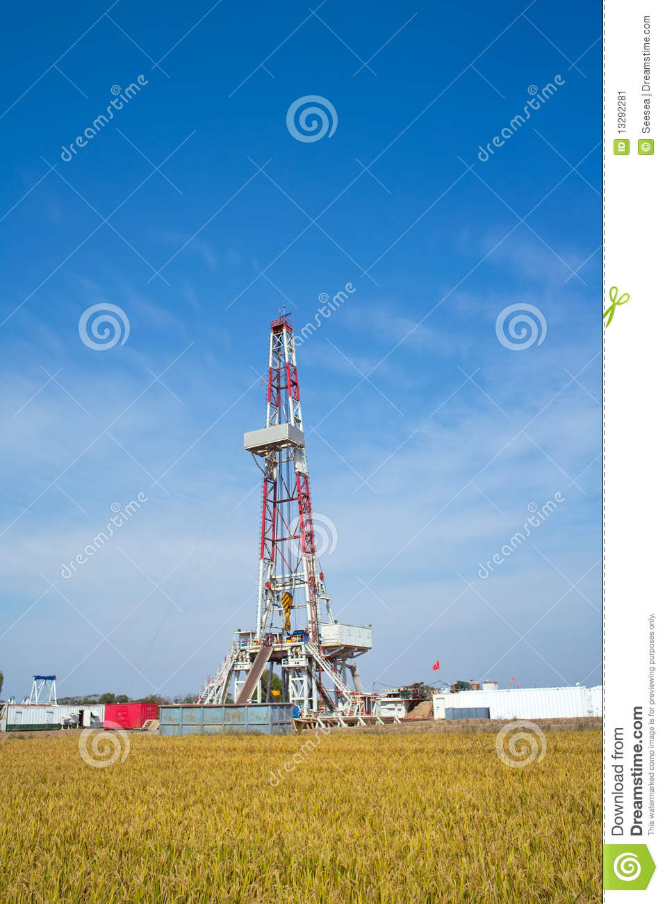 Land Drilling Rig Stock Image   Image  13292281