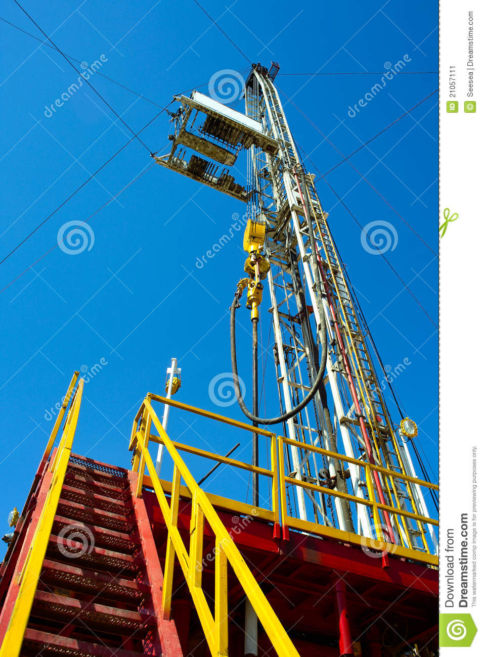 Land Drilling Rig  Stock Image   Image  21057111