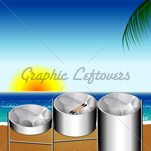 Steel Pan Drums   Gl Stock Images