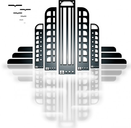 Tiothy City Art Deco Clip Art Free Vector 260 18kb