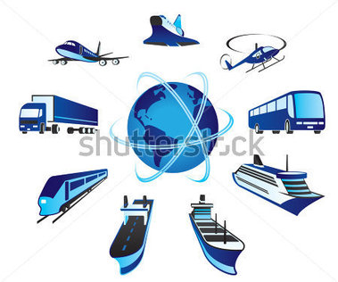 And Cargo Transportations Around The World   Vector Illustration