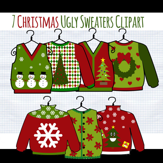Christmas Clip Art Ugly Christmas Sweater Clipart Tacky Sweater