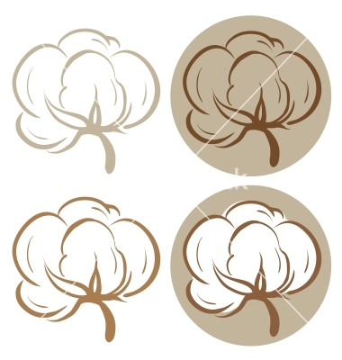 Cotton Icons Vector Art   Download Stylized Vectors   940434