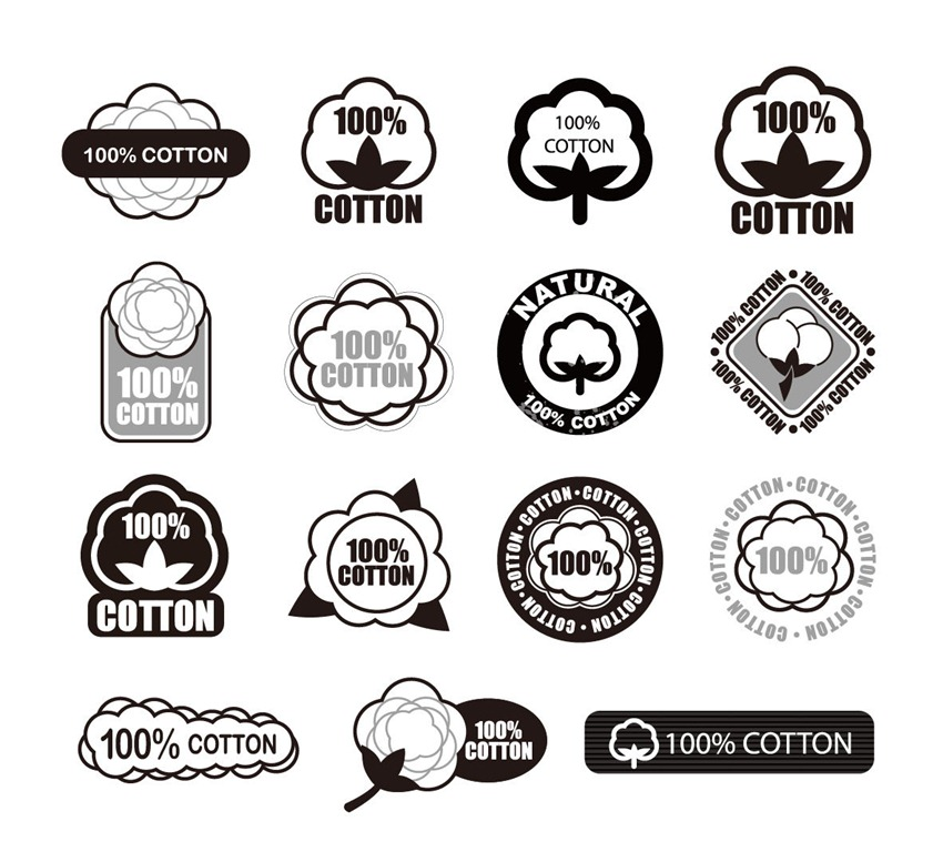 Cotton Logo Vector Set   Free Vector Graphics   All Free Web Resources