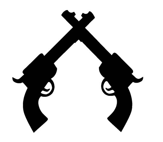 Pistol Silhouette Clipart