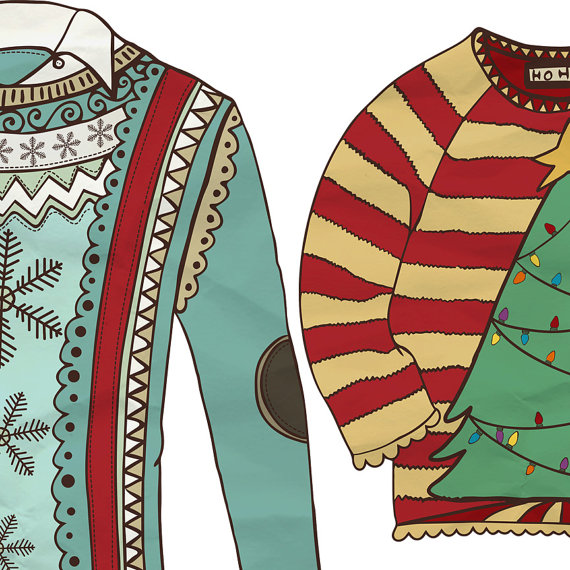 Fishscraps   Ugly Sweater Christmas Clip Art Ugly Sweater Clipart