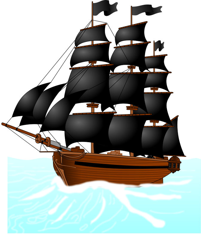 Pirate Ship Clipart - Clipart Kid