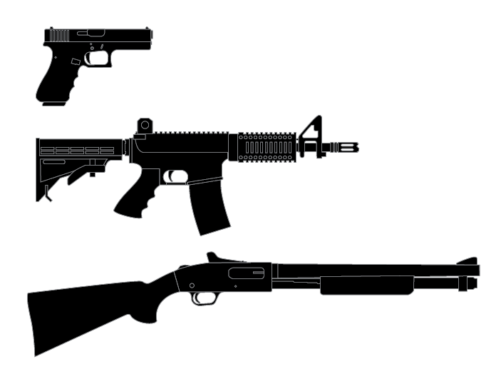 Ar-15 Guns Clipart - Clipart Kid