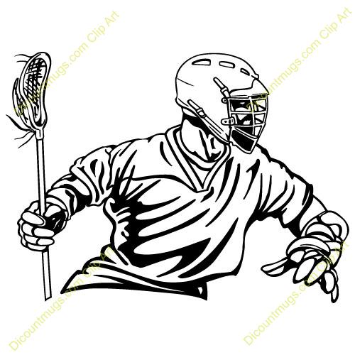 Clip Art Lacrosse Clip Art lacrosse silhouettes clipart kid player right