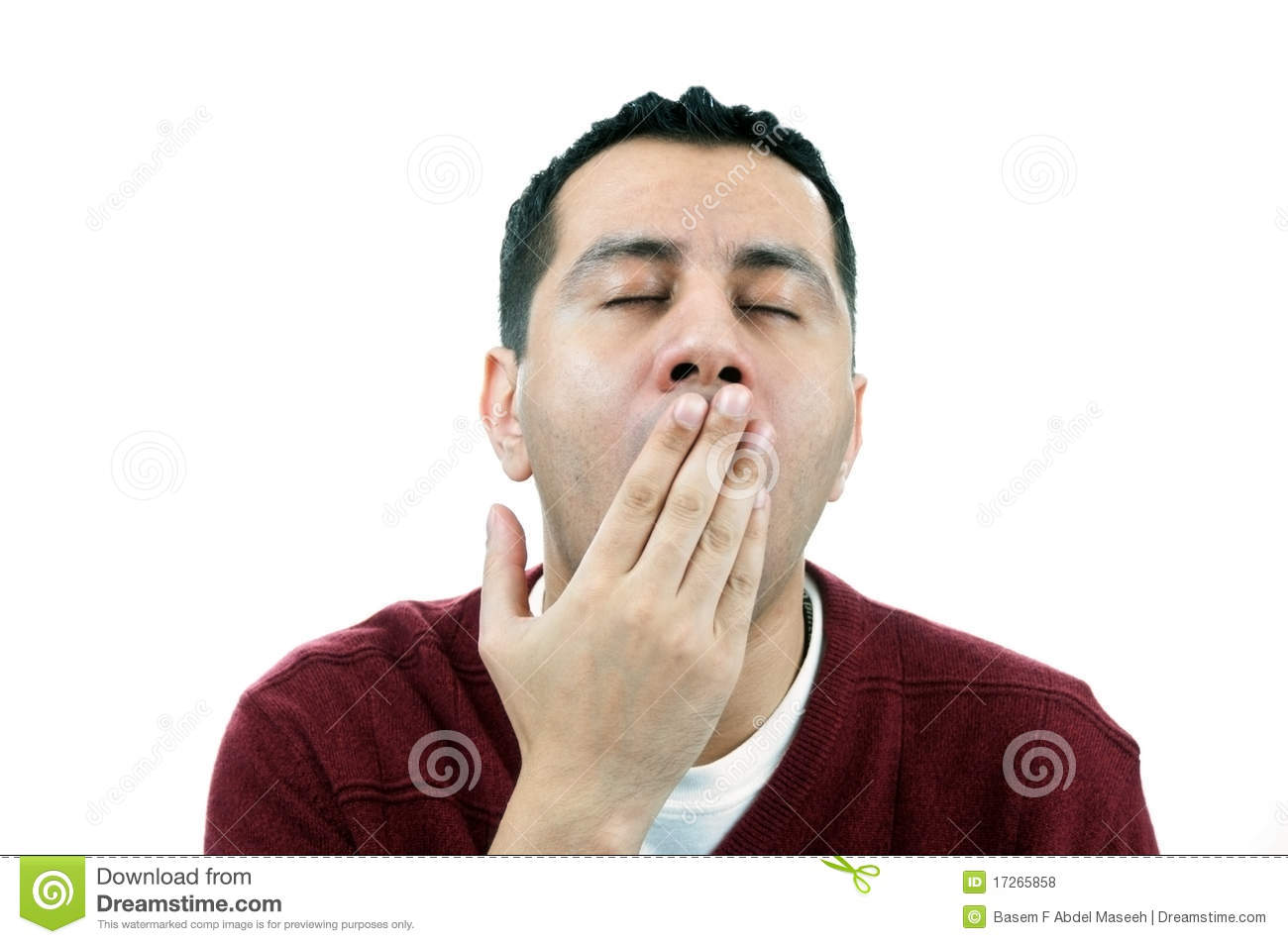 Man Yawning Royalty Free Stock Photos   Image  17265858