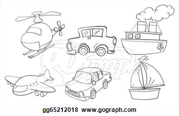 Of Land Air And Water Transportations  Stock Eps Gg65212018   Gograph