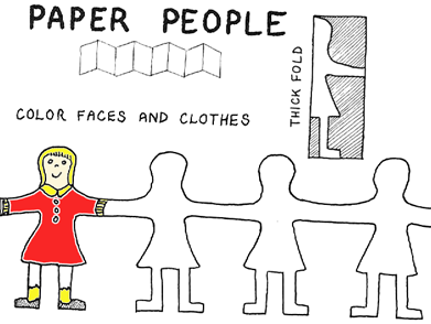 Person paper cutting clipart clipart suggest for Paper cutting templates for kids