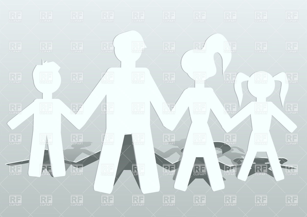 Paper   Family Conception 27390 Download Royalty Free Vector Clipart