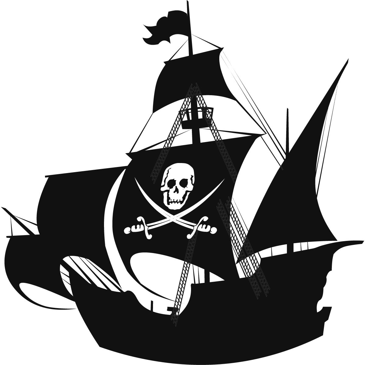 Pirate Silhouette Clipart - Clipart Kid