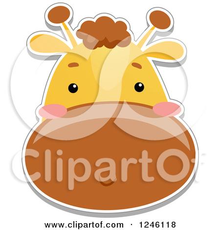 Giraffe Face Clipart - Clipart Kid