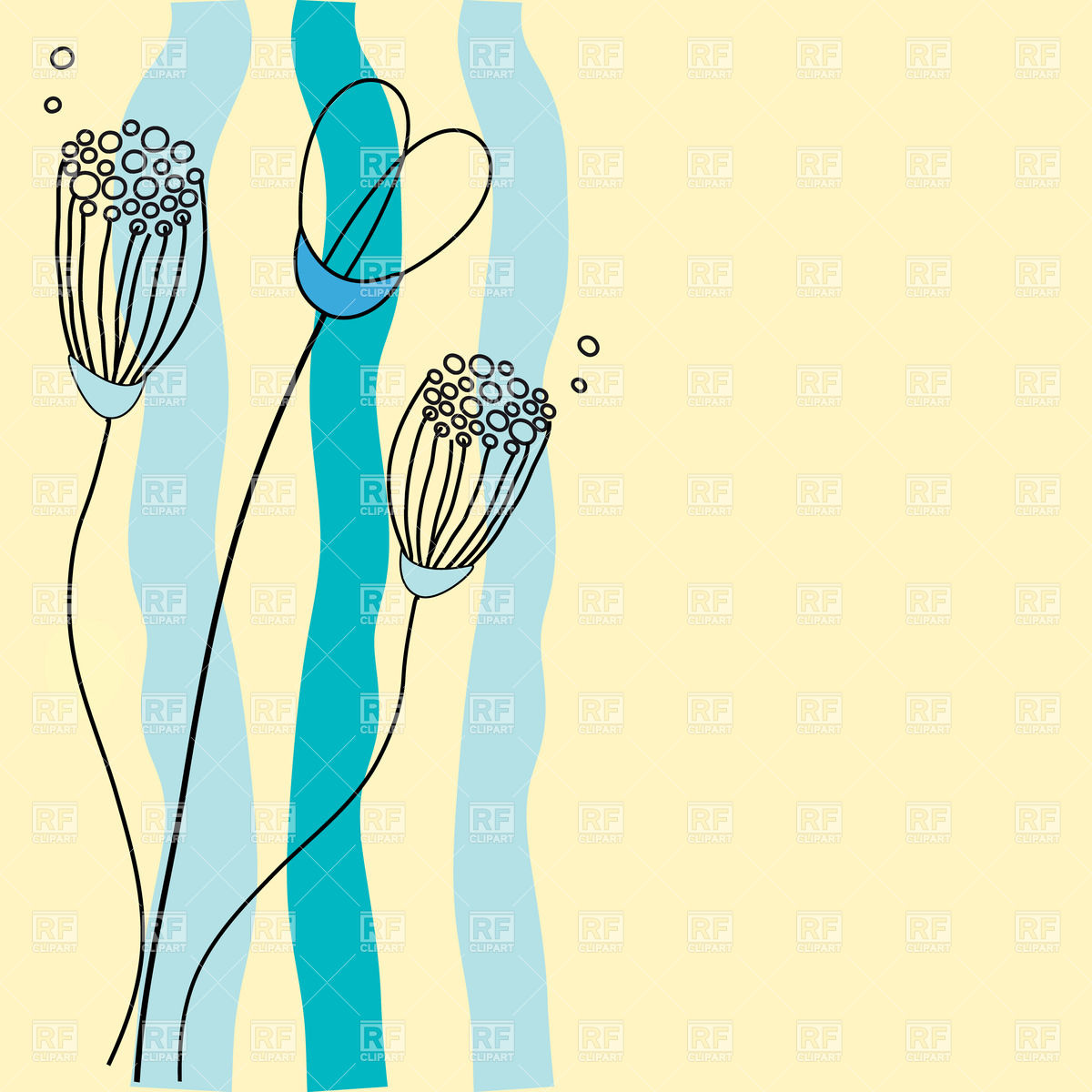 Vertical Line Flower Clipart - Clipart Suggest