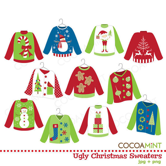 Ugly Christmas Sweaters Clip Art