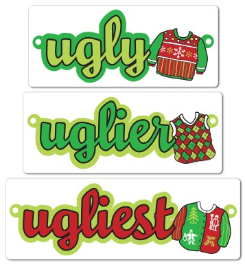 Ugly Sweater Display Garland