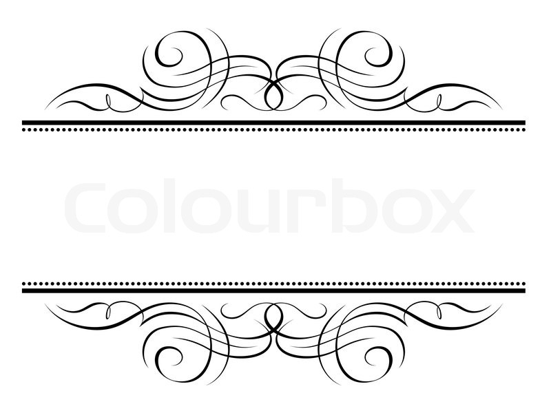 vignette ornamental penmanship decorative frame vector colourbox