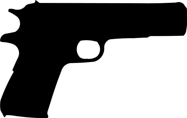 Pistol Silhouette Clipart - Clipart Suggest