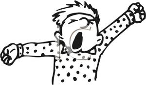 Yawning And Stretching Royalty Free Clipart Picture 100221 120820