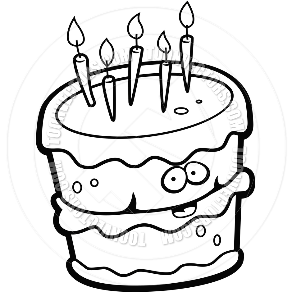 Black And White Cake Clip Art