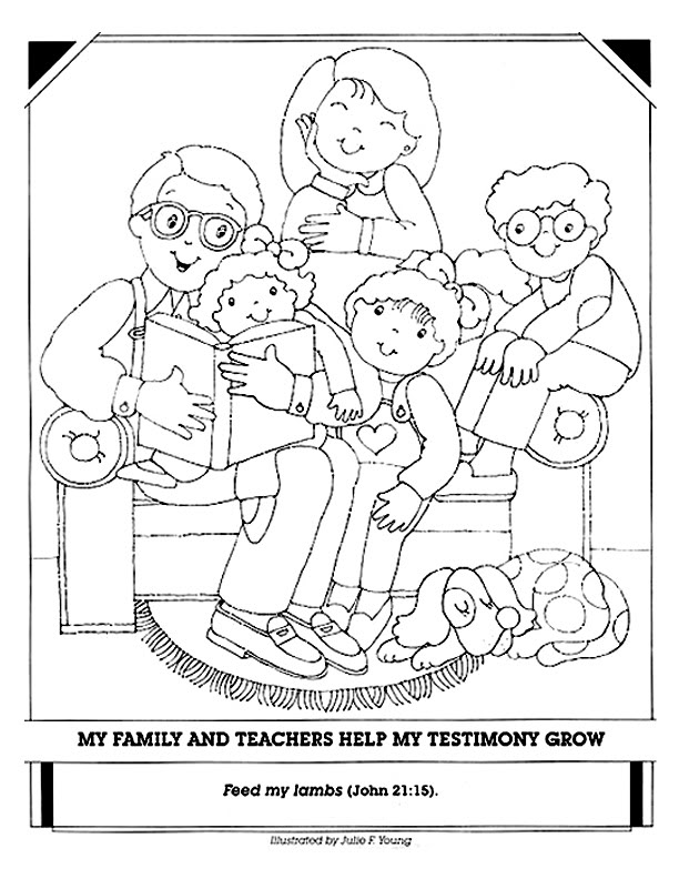 Lds choose the right clipart clipart suggest for Lds holy ghost coloring page