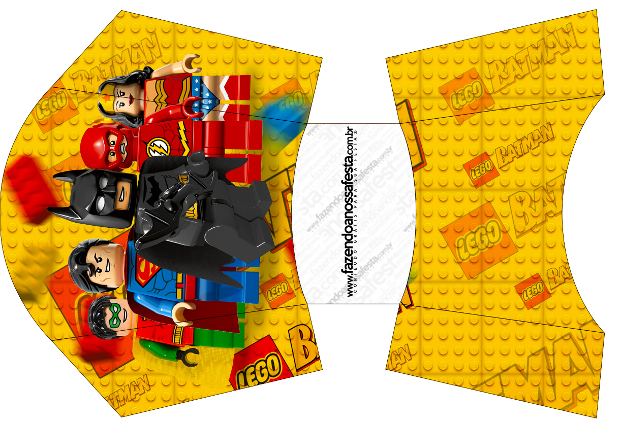 Envelope Fritas Batman Lego Super Heroes