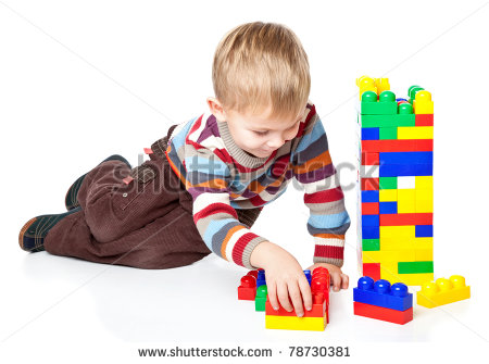 Kids Playing With Legos Clip Art A Funny Boy Is Playing With