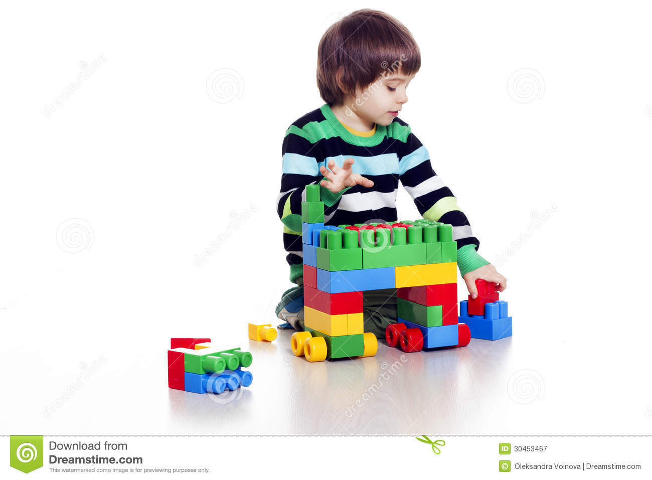 Little Boy Playing Lego Royalty Free Stock Photography   Image