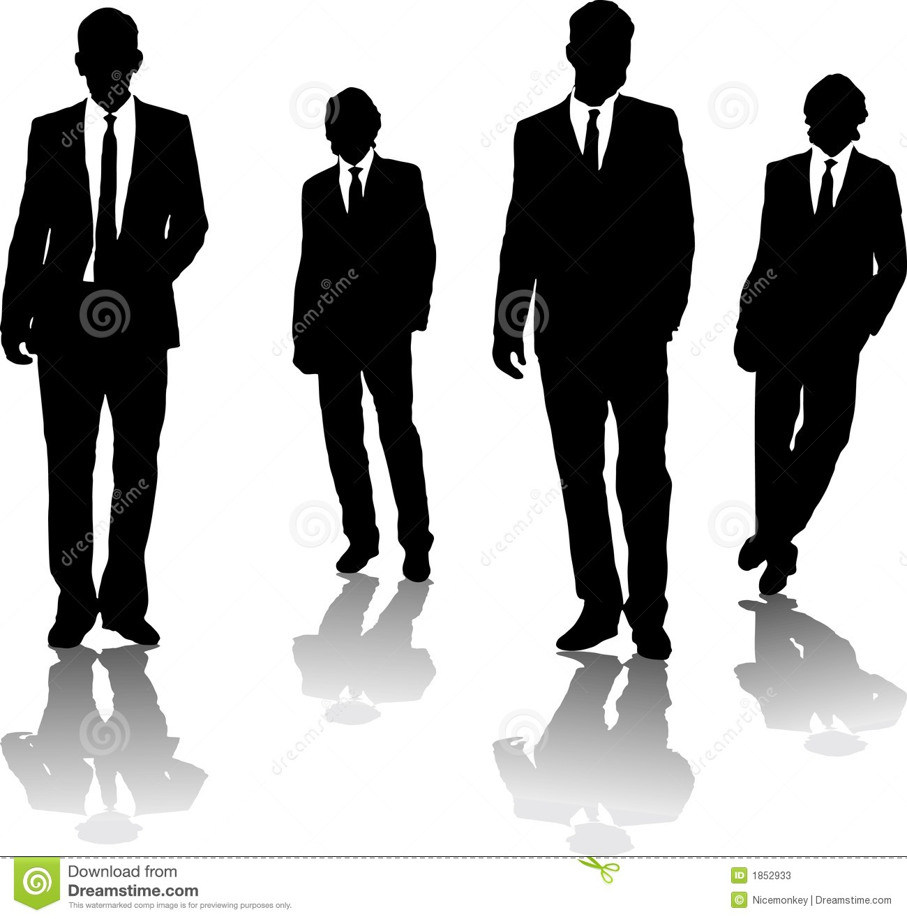 Man In Suit And Tie Clipart Silhouette Men Suit Tie Stock