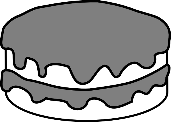 Plain Black And White Cake Clip Art At Clker Com   Vector Clip Art