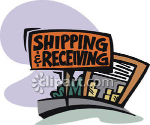 Shipping   Receiving Sign Clipart Picture
