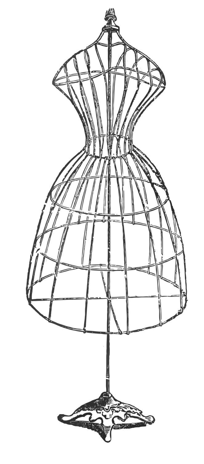 Vintage Image Download   Antique Wire Dress Form   The Graphics Fairy