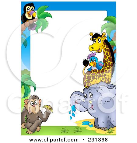 Zoo Animals Clip Art Border Zoo Animals Bor...