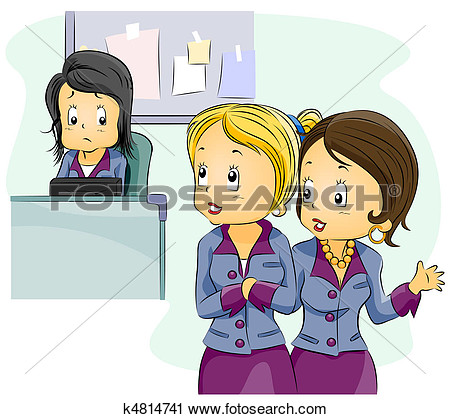 Clipart   Office Gossip  Fotosearch   Search Clip Art Illustration