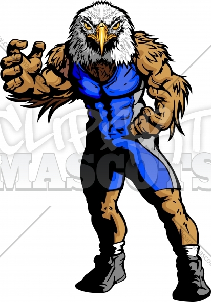 Eagle Wrestling Clipart Vector Graphic   School Wrestling Clipart