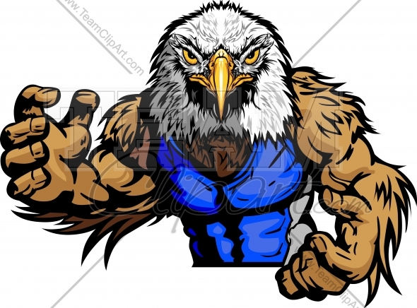Eagle Wrestling Clipart Vector Image   Sports Clipart