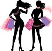 Gallery For   Lady Shopping Silhouette Clip Art